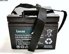 Lucas 12v 26 Ah AGM battery-Golf Trolley Battery-Quality Golfing Product