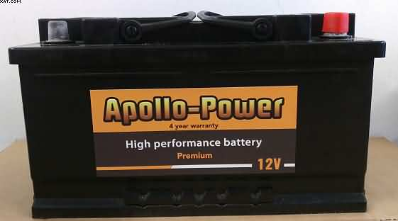 110 car battery 80 ah 800 cca sealed apollo power four year warranty. Black Bedroom Furniture Sets. Home Design Ideas