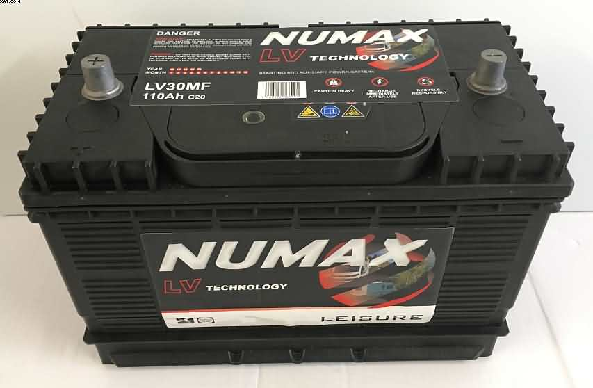 campervan batteries 110 ah numax leisure mxv30mf. Black Bedroom Furniture Sets. Home Design Ideas