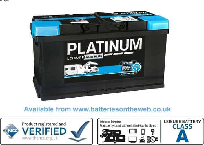 platinum agm deep cycle leisure boat marine battery 12v 100 ah. Black Bedroom Furniture Sets. Home Design Ideas