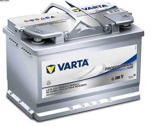 varta la 70 agm battery professional duel purpose batteries. Black Bedroom Furniture Sets. Home Design Ideas